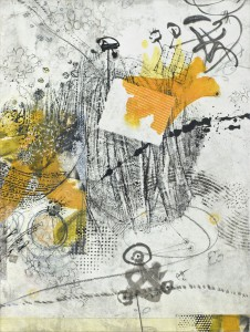 mixed media on rice paper