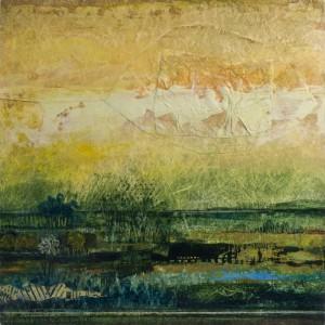 Blue Marsh acrylic and Tyvek