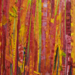 Red Bamboo acrylic on Tyvek