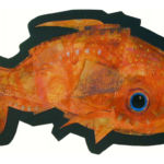 Red Fish Reconstruction acrylic and Tyvek
