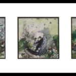Three Views of A Garden acrylic collage